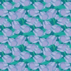 Blue roses fabric by cassiopee on Spoonflower - custom fabric