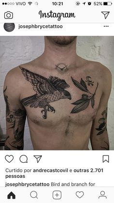 Bird Of Prey Tattoo, Bird Tattoo Men, Snake Tattoo, Feather Tattoos, Black Ink Tattoos, Love Tattoos, Tattoo You, Black And Grey Tattoos, New Tattoos