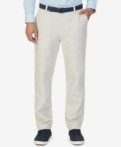 Nautica Men's Classic-Fit Linen Cotton Pants