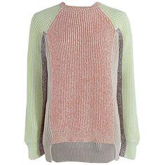 Stella McCartney Long Sleeve Crewneck Chunky Sweater ($890) ❤ liked on Polyvore
