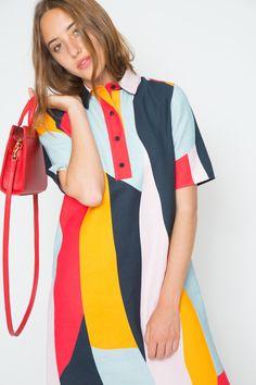 DUSEN DUSEN | Short Collared Dress-Swatch