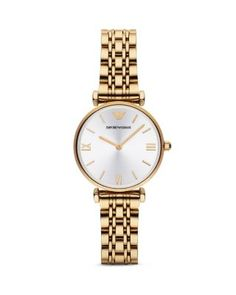 Emporio Armani Round Link Watch, 32mm | Bloomingdale's