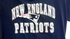 "NFL Team Apparel Ladies L ""NEW ENGLAND PATRIOTS"" Short Sleeve Dark Blue T-Shirt #NFL $10 @Ebay"
