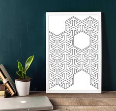 INSTANT DIGITAL DOWNLOAD: Geometric Wall Art Printable artworks Black and White Arts in elegant Style  ** Code W-0101 ***  ** NO PHYSICAL PRINT INCLUDED ***  ** Reasonably priced wall art makes the wallet. you get wall art for only 3.95 $ instead 7.5$ *** ** LIMITED TIME OFFER MAY 2017: ***  Print out this modern wall artwork from your home computer or local print shop to style and decorate your home or office!  Your order will include 4 JPG with different sizes. Youll get every single file…