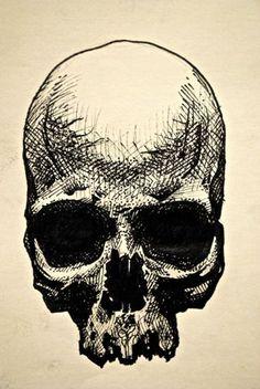 "eatsleepdraw: ""skull"" drawing / micron pen on paper:"