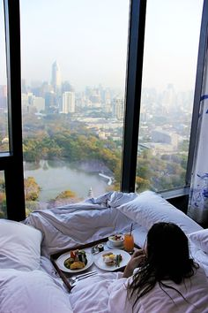 NYC. Central Park from the bed