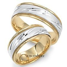 two-tone wedding bands