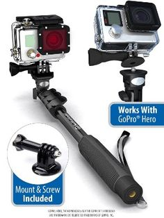 Professional Monopod / Selfie Stick For GoPro Hero, iPhone, Samsung Galaxy, Digital Cameras With Bluetooth Remote Shutter (Cellphones Only) Selfies, Bluetooth Remote, Camera Equipment, Selfie Stick, Gopro Hero, Camera Photography, Outdoor Power Equipment, Photos, Shopping