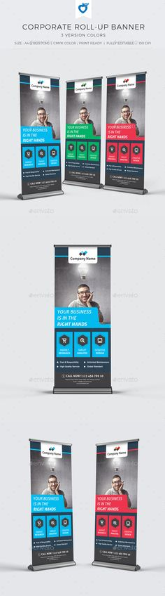 Corporate Roll-up Banner Template #design Download: http://graphicriver.net/item/corporate-rollup-banner/10751287?ref=ksioks