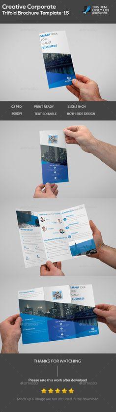 Creative Corporate Trifold Brochure Template -16