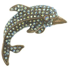 Pugster Dolphin Brooches And Pins Pugster. $18.00. Occasion: casual wear,anniversary, bridal, cocktail party, wedding. Exquisitely detailed designer style,Swarovski element crystal. One free elegant cushioned Gift box available with every order from Pugster.. Money-back Satisfaction Guarantee. Can be pinned on your gown or fastened in your hair with bobby pins.