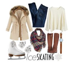 """""""Ice Skating With Friends!"""" by lina-hang ❤ liked on Polyvore featuring 7 For All Mankind, Venus, Riedell, Naturalizer, Georgini, women's clothing, women, female, woman and misses"""
