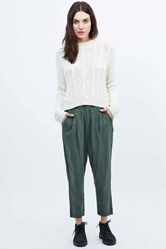 BDG Linen Mix Trousers - Urban Outfitters