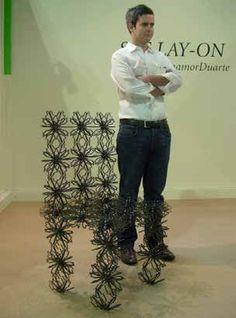 Cadeira Lay-On, by Eduardo Benamor Duarte, produzida na Monteiros