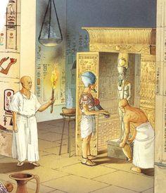 Pharaoh pays homage to a God