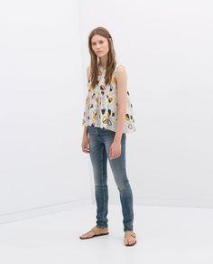 Image 1 de PANTALON DENIM SKINNY de Zara