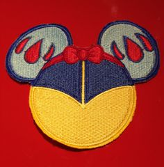 Disney Princess Snow White Mouse Ears Sew On Patch Fish by MyHoard, $5.00