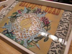 Tray/ Grateful Dead Tray/ Lace/ Rolling Trays/ Dead Art/ Food Tray/ Shot Glass Tray/ Dead Roses by EasyWindFamily on Etsy