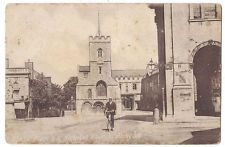 ABINGDON Market Place and St Nicholas Church, Postcard by WH Hooke, Posted 1913