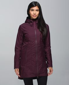 """There's a reason they call it the """"Wet Coast"""". We designed this seam-sealed jacket with water-resistant fabric and a big, brimmed hood  to help shield us from the notorious Vancouver rain. We added deep, lined pockets to hold our essentials  so we can ditch the umbrella and bag."""