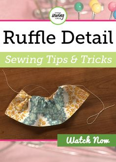 Aurora Sisneros introduces you to a new and simpler sewing method for adding ruffle detail to your projects. Go through each step with Aurora and find out the tricks for making your ruffle details with crochet thread. It is time for you to start incorporating ruffles into your sewing projects while utilizing these helpful tips and techniques!