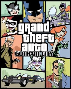 The Line it is Drawn #103 - Video Game Characters Meet Comic Book Characters -     Grand Theft Auto: Gotham City by Bill Walko  http://goodcomics.comicbookresources.com/2012/08/23/the-line-it-is-drawn-103-video-game-characters-meet-comic-book-characters/