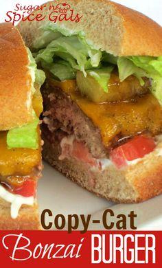 Spice Gals: Copy Cat Bonzai Burger