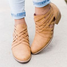"""These heel booties are an absolute must have! These versatile booties are perfect for day to night activities. They feature a slightly pointed closed toe and a 1.5"""" chunk heel."""