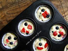 Marmita: Muffins de morangos e mirtilos - Vegan