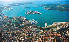 Pula in Croatia from above Pula, Greek Islands Vacation, Greece Vacation, Greece Today, Places To Travel, Places To Visit, Vacation Places, Travel Destinations, Bangladesh Travel