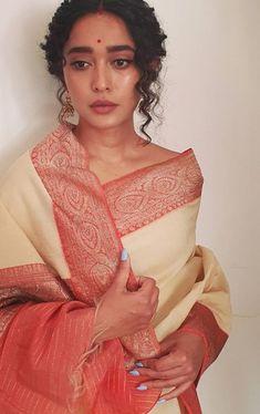 Actress Wedding, Indian Aesthetic, Kurti Sleeves Design, Desi Wear, Saree Photoshoot, Elegant Saree, Desi Clothes, Casual Dress Outfits, Indian Wedding Outfits