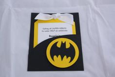 Batman Birthday Party Invitations by yadyscreations on Etsy, $20.00