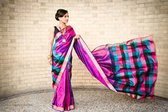 Fashion photoshoot for Mayil Creations jewellery, featuring a classic Tamil Kanchipuram Sari