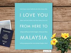 I Love You From Here To MALAYSIA art print