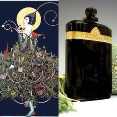 """Caron Nuit de Noel, """"A Flapper Christmas Vogue Illustration 1920's"""""""