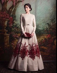 Baby Pink Color Embroidered Gown By Sabyasachi