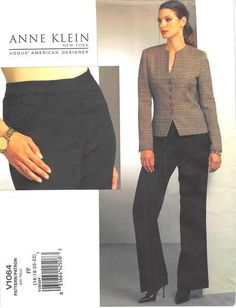 VOGUE 1064 - FROM 2008 - UNCUT - MISSES JACKET & PANTS