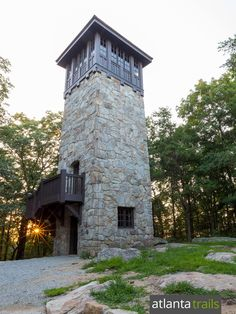 Hike Fort Mountain State Park to a stone lookout tower from the and a mysterious, ancient rock wall near Ellijay, Georgia Unique Buildings, Beautiful Buildings, Small Castles, Small Cottage Homes, Lookout Tower, Architecture Details, Classical Architecture, House Architecture, Tower House