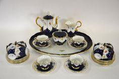 Tea set em porcelana Alema Meissen da primeira metade do sec.20th, anos 30, 16,670 EGP / 5,890 REAIS / 1,900 EUROS / 2,185 USD https://www.facebook.com/SoulCariocaAntiques