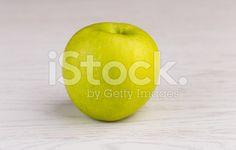 Apple on wooden background – banque photo libre de droits