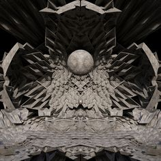Concrete Geometries 07 .  .  .  .  .  .  .  .  .  #supersequential #cymatic#3d#concrete#design#brutalism#3dsmax#sacredgeometry#cement#planets#space#time#mind#matter#art#mandala#zbrush#keyshot#architecture#huffpostarts