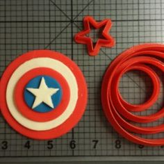 Captain America Cookie Cutter Set