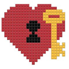 Perler Bead Art, Hama Beads, Cross Stitch Designs, Cross Stitch Patterns, Graph Paper Drawings, Cross Stitch Heart, Key To My Heart, Diamond Art, Loom Bracelets