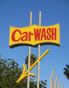 Car Wash Sign, Cool Room Decor, Fun Crafts To Do, It Goes On, Googie, Gas Station, Coffee Shop, Auto Wash, Classic Cars