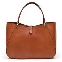 Boldrini for Hunt Hangbag with Tab Closure - Boldrini - All Brands Gold Handbags, Large Handbags, All Brands, Leather, Closure, Gold Bags, Big Purses, Gold Clutch Bags, Large Purses