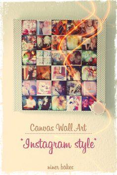 DIY - Instagram Wall Art: Make your own instagram canvas by niner bakes, via Flickr