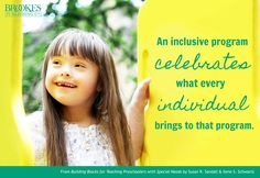 """""""An inclusive program celebrates what every individual brings to that program. Speech Language Pathology, Speech And Language, Columbia College, Special Needs, Early Childhood, Preschool, Bring It On, Teaching, Building"""