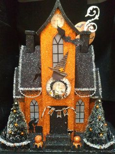 Halloween Putz Haunted House There were oodles of these at Homegoods last year I was hoping to pick one up this year but no such luck the stores were bare for Halloween this year!