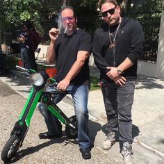 Instagram picutre by @scootebike: @andrewdiceclay just gut his Custom Green and Black #ScootEbike by @Raytroniks  DICE is a legend!! We are so happy to have his support!! Get yours NOW at  ScootEBike.com  #Ebike #scooterbike #electricscooter @sirdavidweintraub #Raytroniks - Shop E-Bikes at ElectricBikeCity.com (Use coupon PINTEREST for 10% off!)