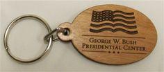 Wooden keychain, George W. Bush Presidential Library